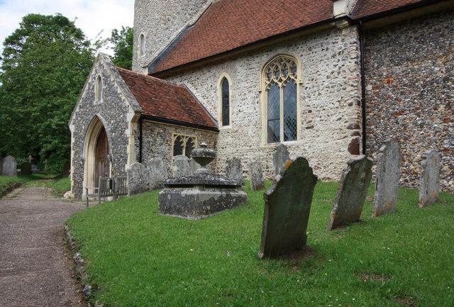 All Saints, Intwood, Norfolk - Porch