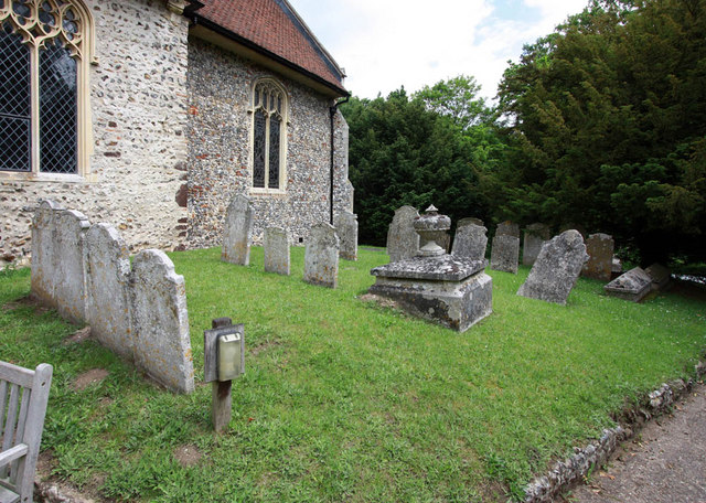 All Saints, Intwood, Norfolk - Churchyard
