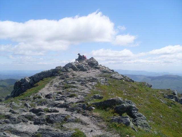 Cairn on the east ridge of Ben Vorlich