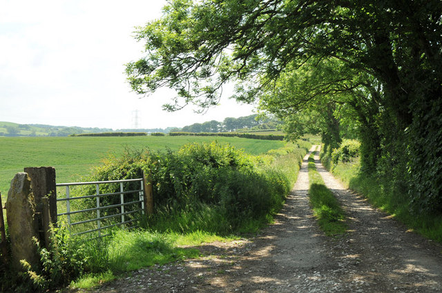 Lane to Kirk House near Over Kellet