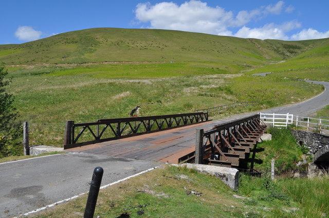 Pont ar Elan - new metal bridge over the Elan