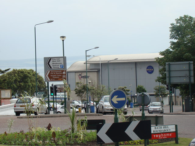 Sheridan IMAX cinema, viewed from Bath Hill Roundabout