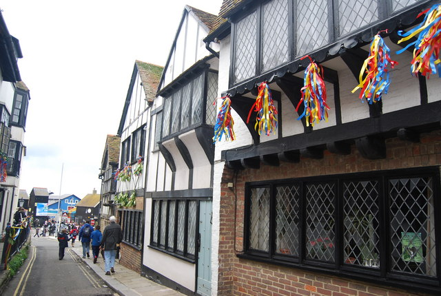 Half timbered houses, All Saints' St