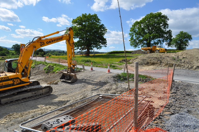 Preparation work for the new A470 trunk road