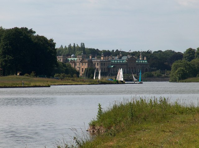 View to Welbeck Abbey along the Great Lake