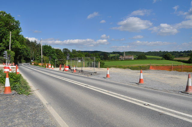 The A470 at site where new A470 will cut across it
