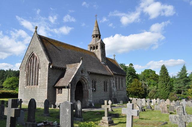 The Parish church of St.John the Divine, Cwmbach Llechrhyd