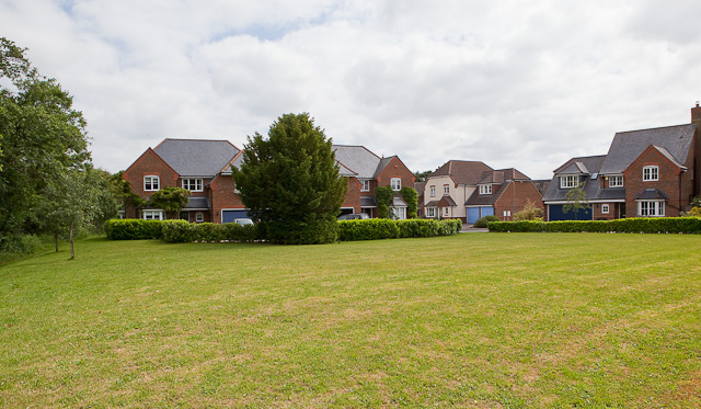 Green and houses in Shires Close