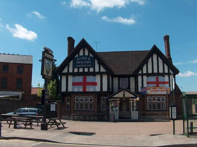 """The Hare and Hounds"", Market Warsop during football's World Cup 2010"