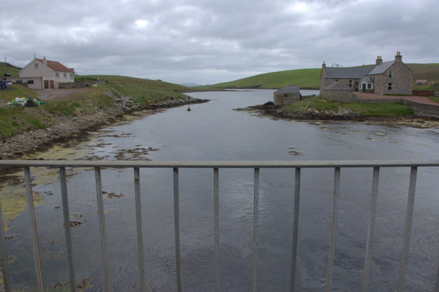Looking south from the bridge over the Atlantic, Burra