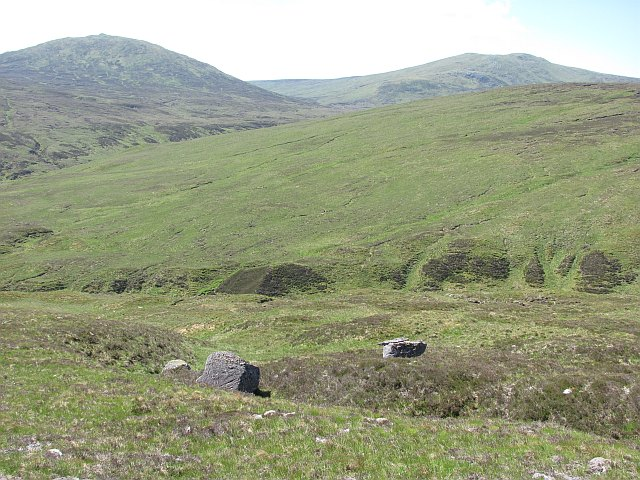 On the west ridge of Creag a' Chail