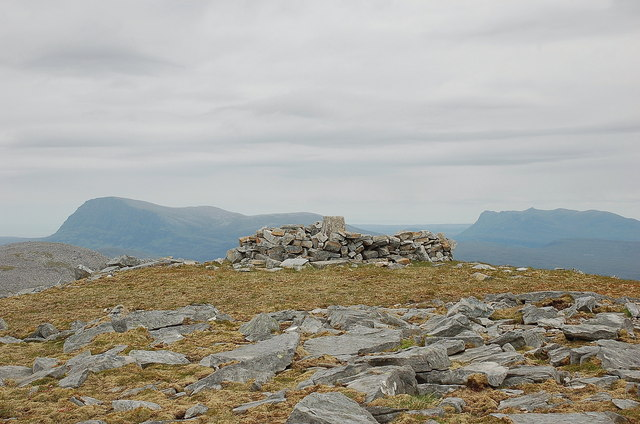 Summit of Meallan Liath Coire Mhic Dhugaill