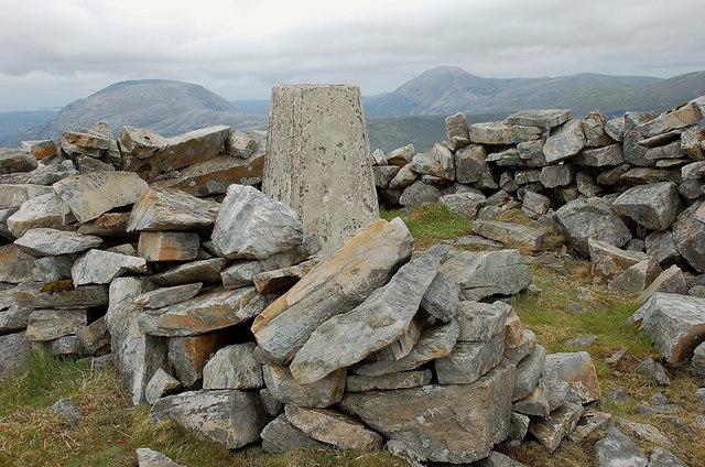Summit trig point, Meallan Liath Coire Mhic Dhugaill