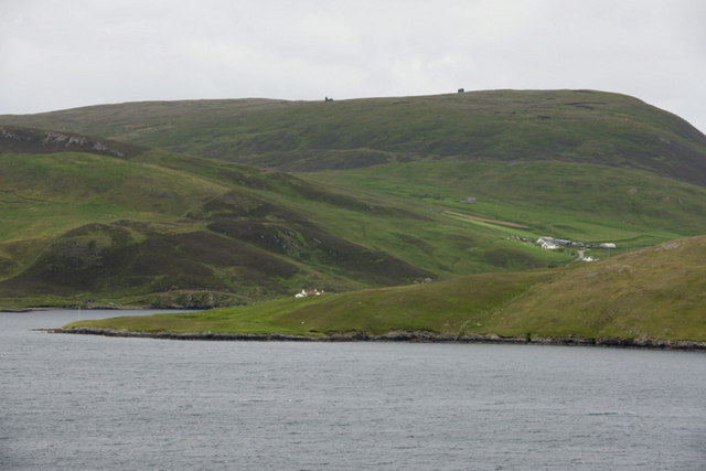 Wester Quarff from Easter Heog, East Burra