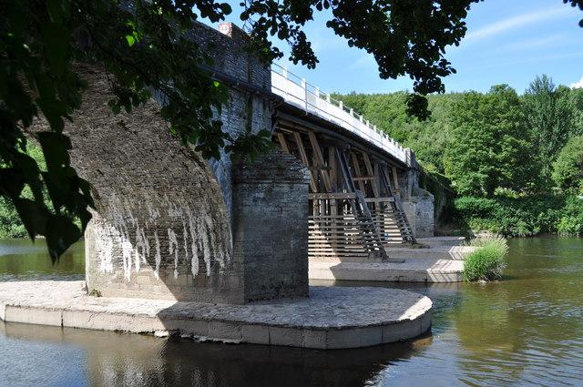 Underside of toll bridge at Whitney-on-Wye