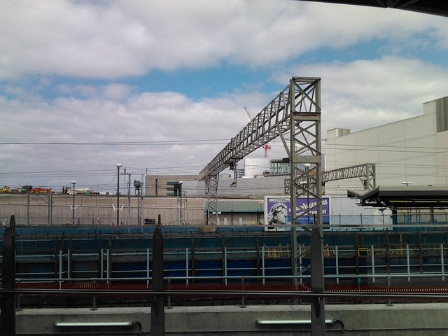 View of Stratford transport interchange from the new DLR platforms