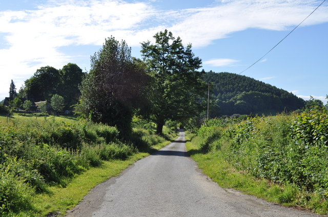 Road from the ford to Knill