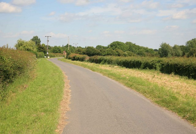 The Laxton to Moorhouse road nr Breck cottages