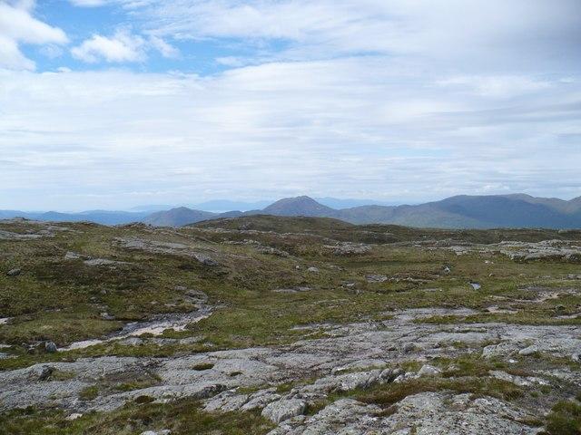 Summit area of Beinn nan Lus