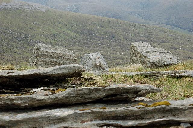 Boulders on the ridge, Meallan Liath Beag