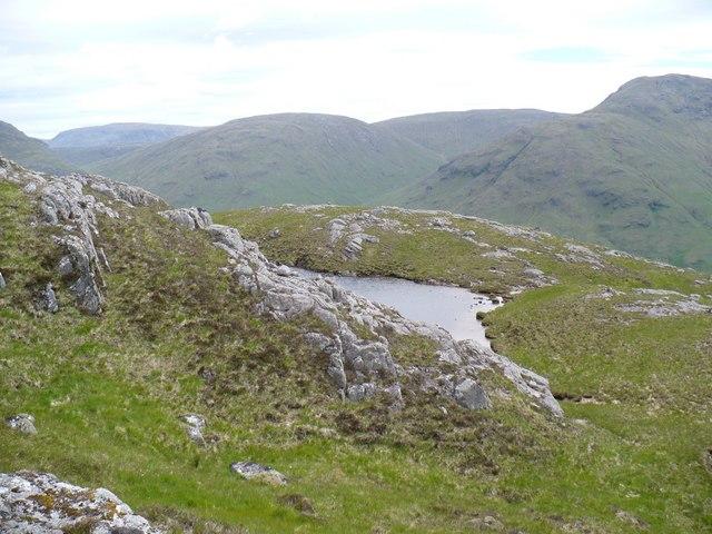 Lochan on Beinn nan Lus