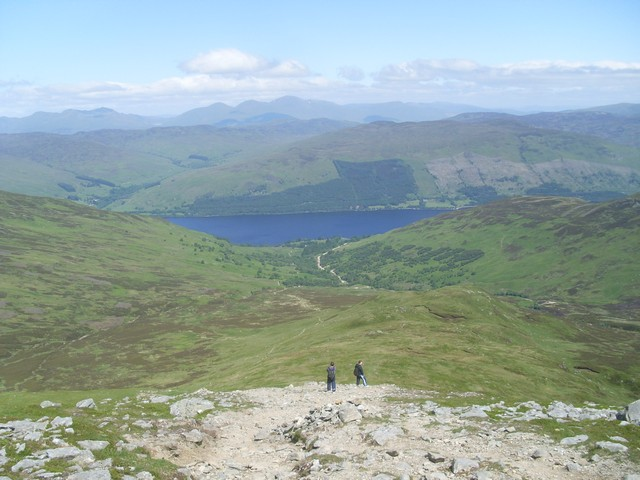 "Looking along the ""shoulder"" of Ben Vorlich"