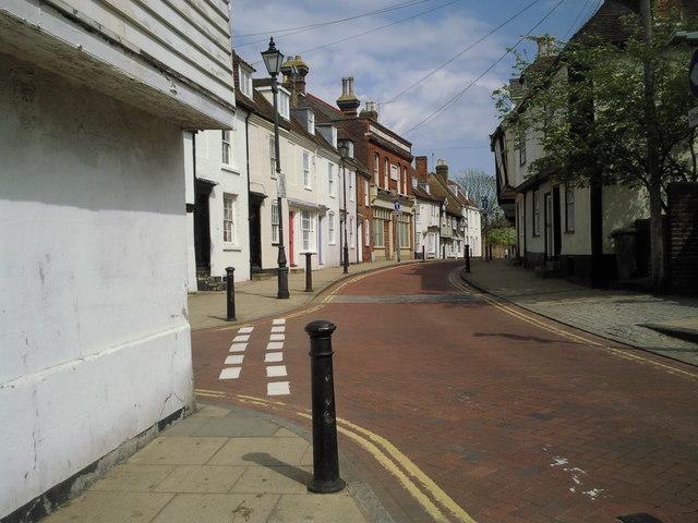 A quiet corner of West Street in Faversham