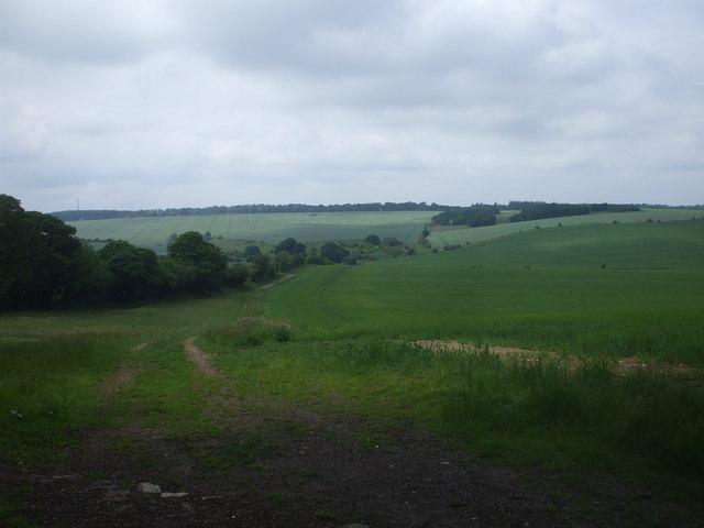 Farmland on the outskirts of Farnborough