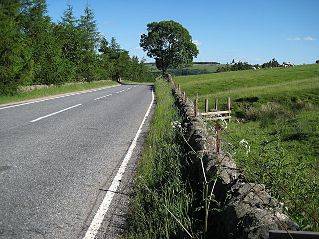 A93 below Hill of Cally