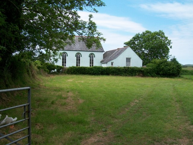 Capel Bethel viewed across farmland