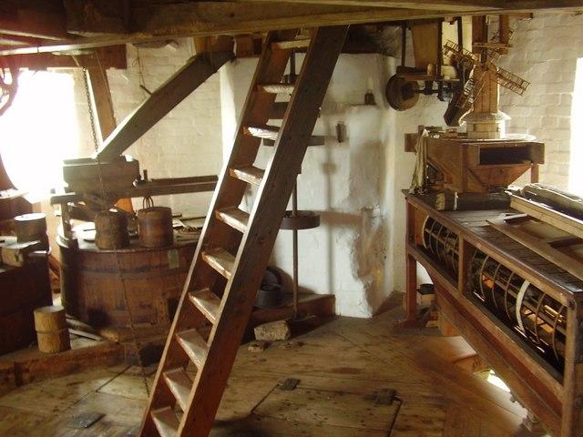 Inside Saxtead Green Post Mill