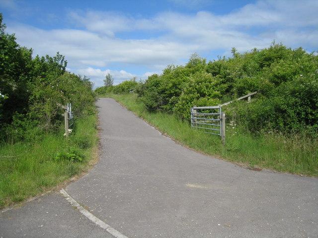 Paved farm track