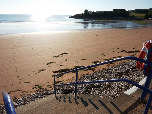 Beach steps, Broadsands beach