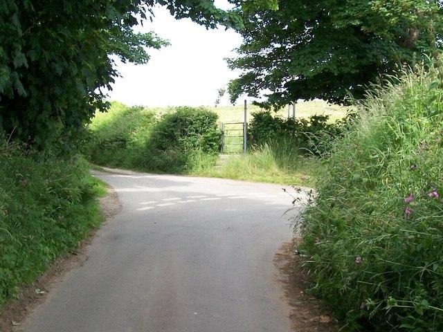 Footpath gate opposite Gellidara Farm