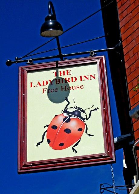 The Ladybird Inn sign, 2 Finstall Road