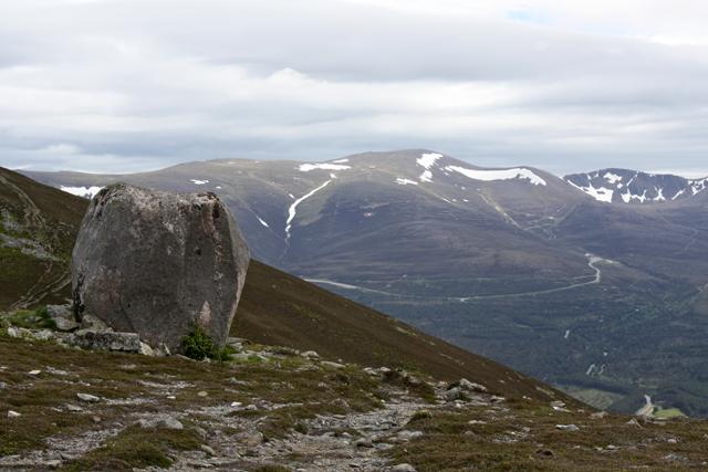 Erratic boulder on Creagan Gorm