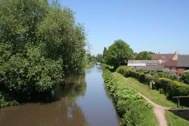 Trent and Mersey Canal from the Castle Way Bridge