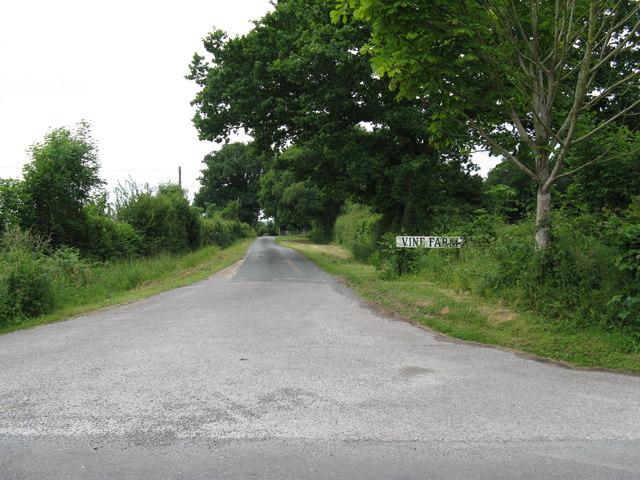 Long drive to Vine Farm
