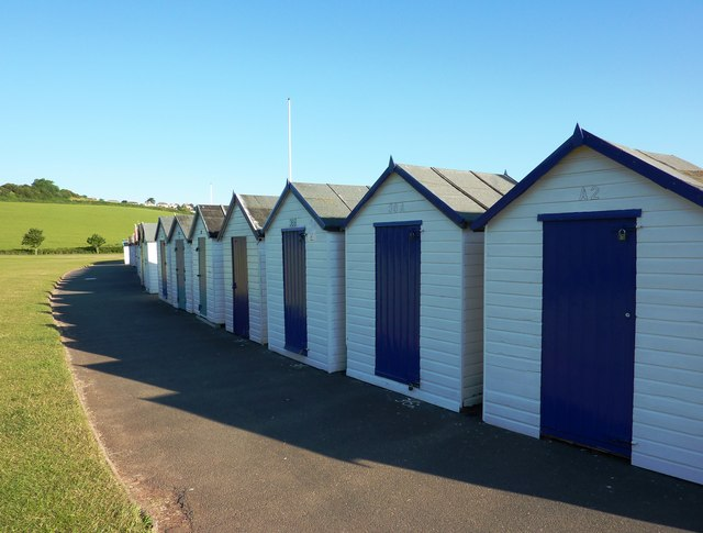 Beach huts, Broadsands beach