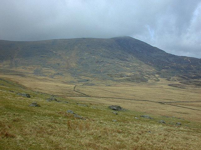 Fields below Diffwys
