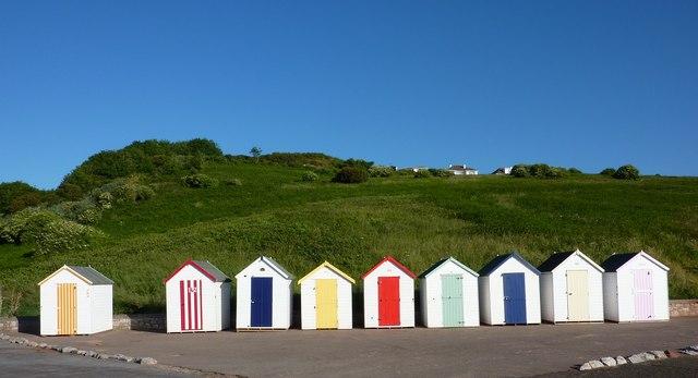 Beach huts, Broadsands beach