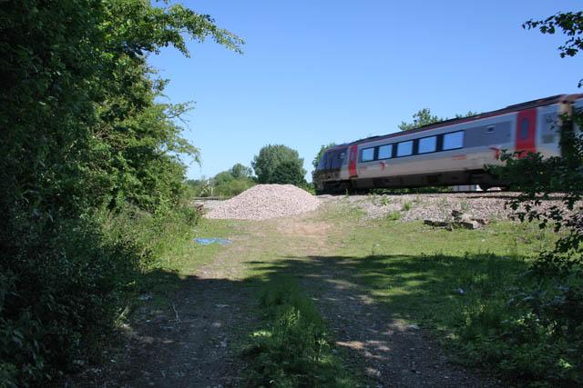 Birmingham train rushing by
