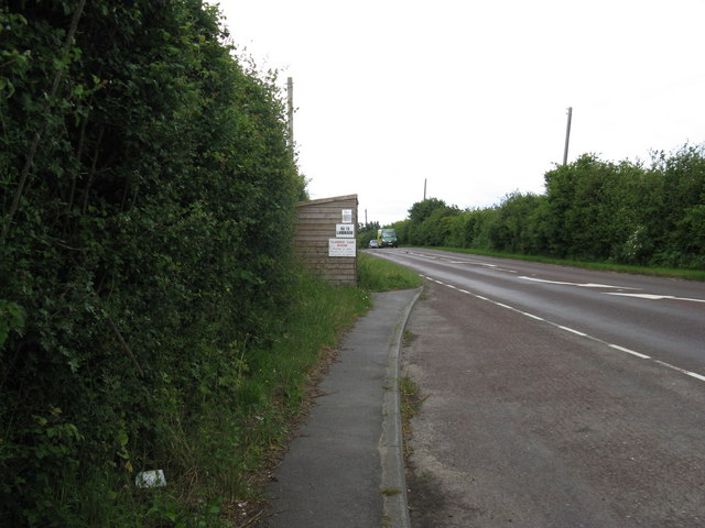 Bus shelter on the A22