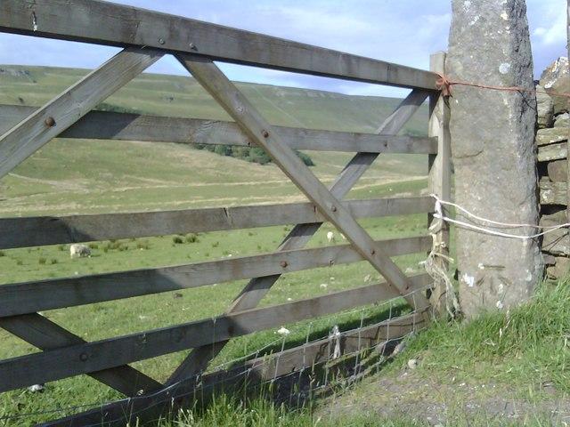 Gateway beside A684 near Moorland Cottage