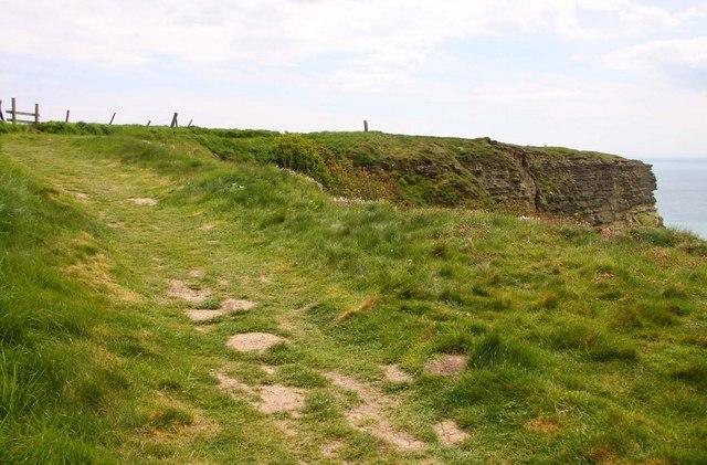 The Coastal Path on Gore Cliff