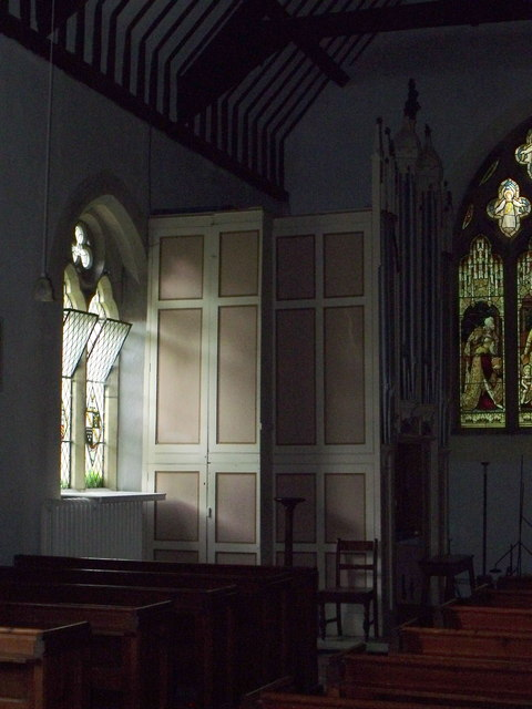 The organ and casing at Sts. Tysilio and Mary, Meifod