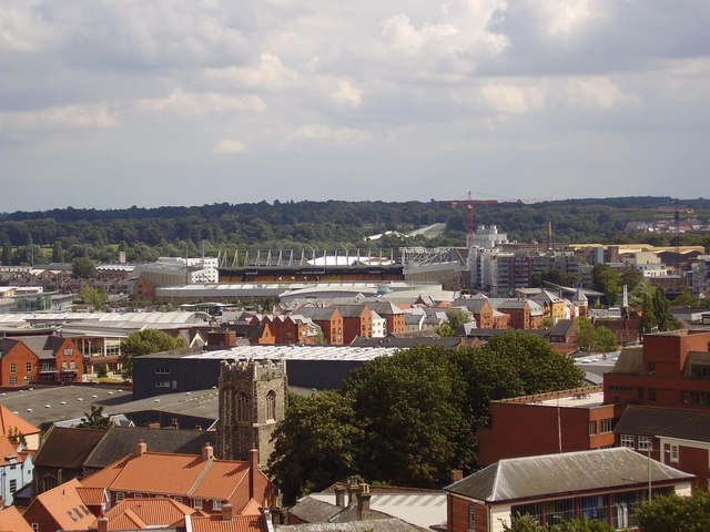 Carrow Road from the Castle