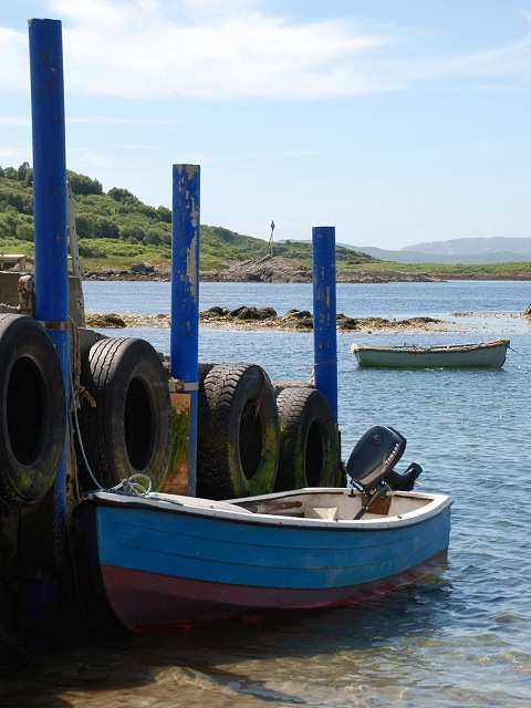 Boats at Carsaig Pier
