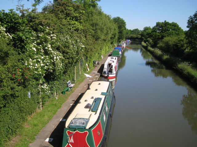 Permanent moorings west of Hatton Station