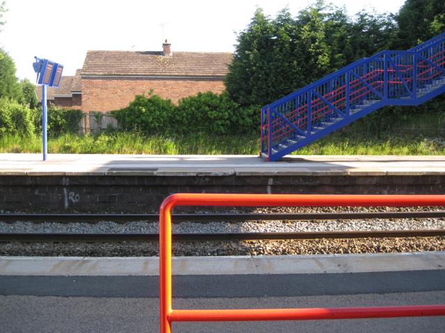 Hatton Station in Chiltern Railways livery